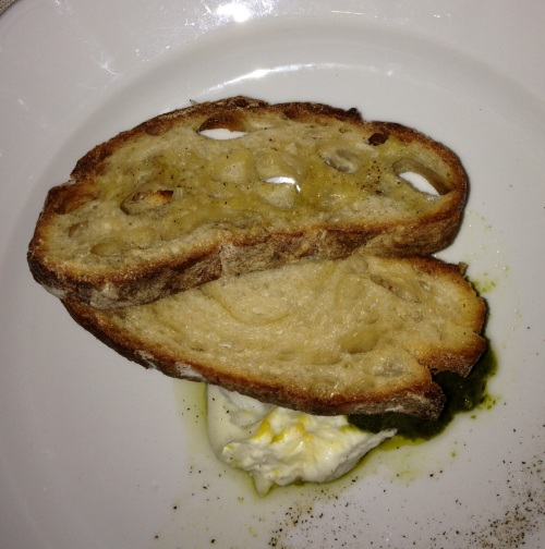 The Epicurean Connection's Buratta with Fresh Pressed December '12 Tallgrass Olive Oil